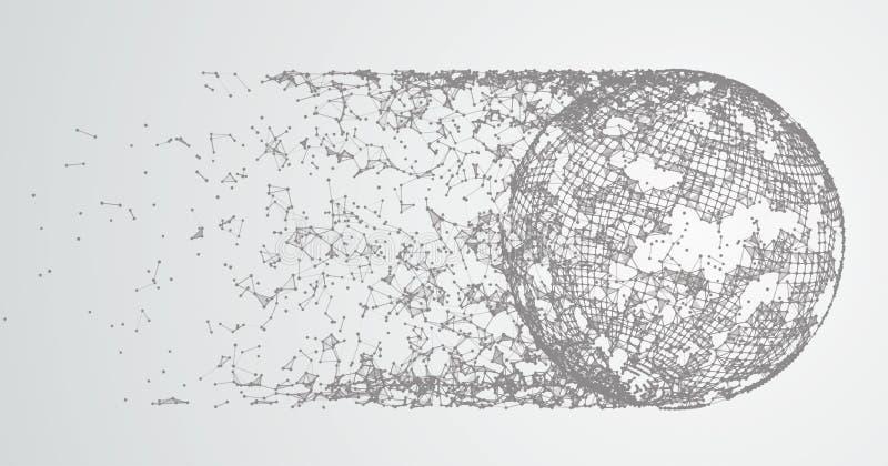 被连接的抽象背景加点彗星 皇族释放例证