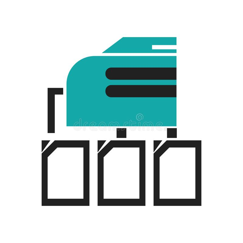 被连接的文件夹数据象在白色背景隔绝的传染媒介标志和标志,被连接的文件夹数据商标概念 库存例证