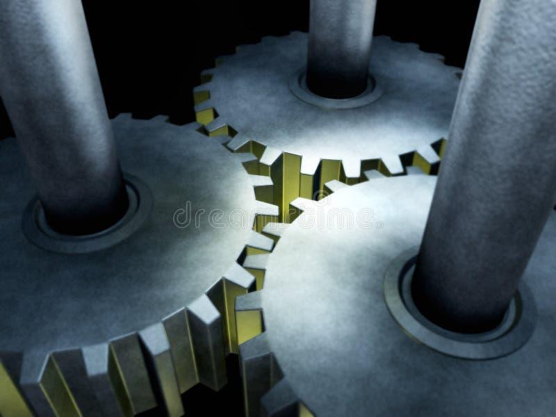被连接的齿轮 向量例证
