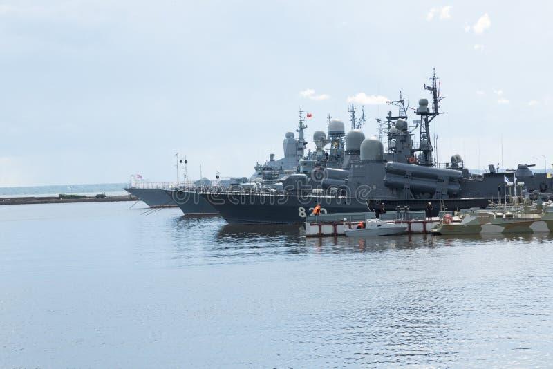 被迫使的俄国军事海 免版税图库摄影