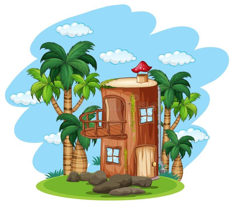 被迷惑的木房子本质上 皇族释放例证