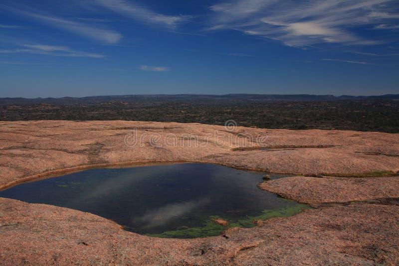 被迷惑的池岩石顶层水 免版税图库摄影