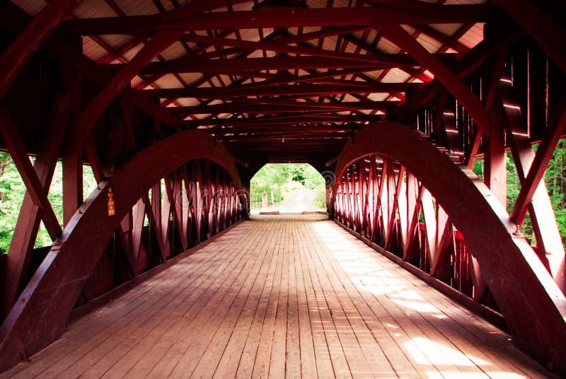 被遮盖的桥在新罕布什尔 免版税图库摄影