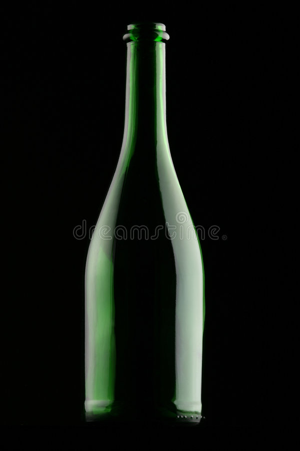 被遮蔽的酒瓶 库存图片