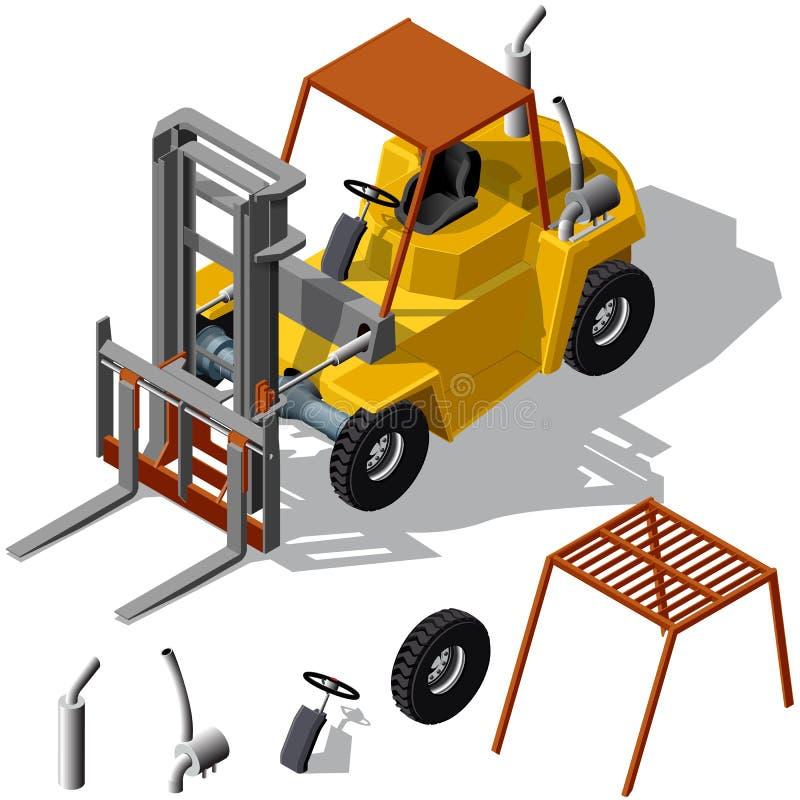 被遮蔽的铲车装载者 库存例证