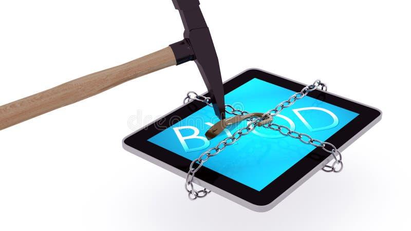 被释放的BYOD片剂 免版税库存图片