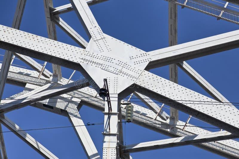被铆牢的桥梁详细资料 免版税图库摄影