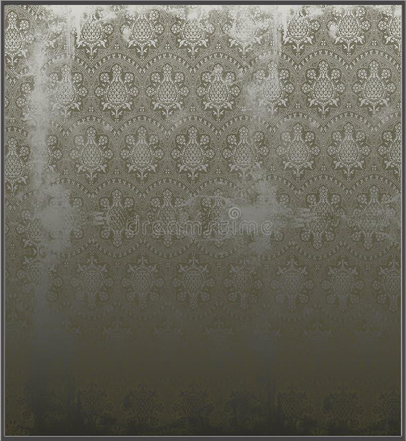 被铭刻的镜子维多利亚女王时代的著&# 皇族释放例证