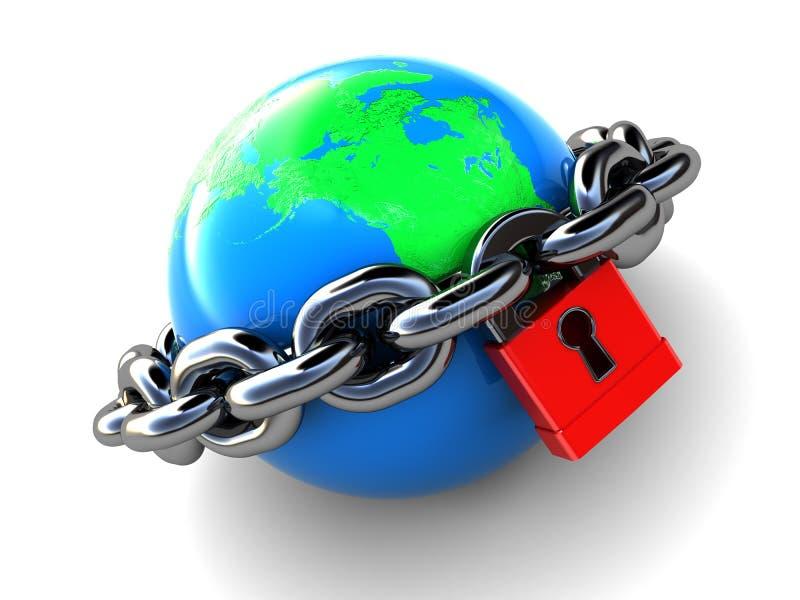 被锁定的地球 向量例证