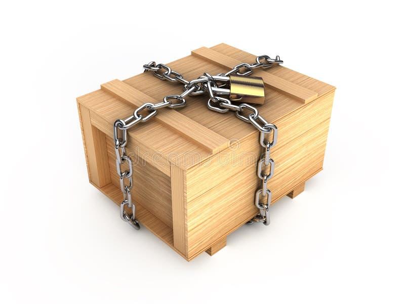被锁定的配件箱 皇族释放例证