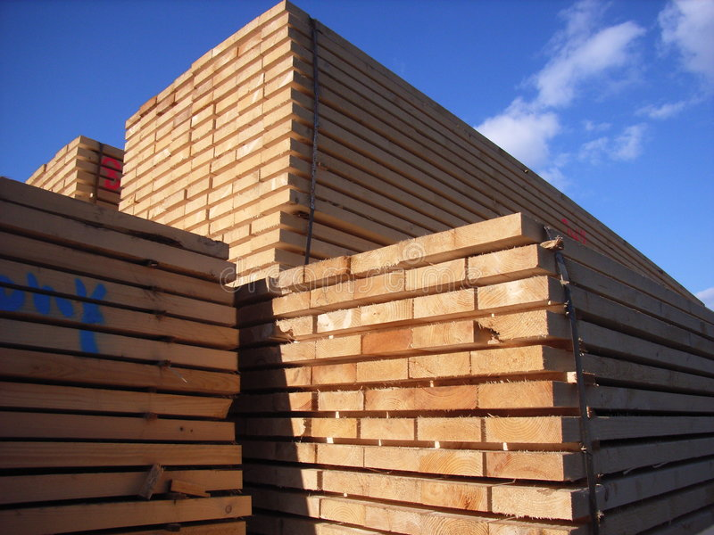 被锯的木材 库存照片