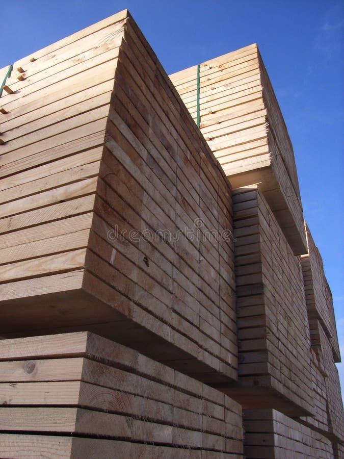 被锯的木材 库存图片