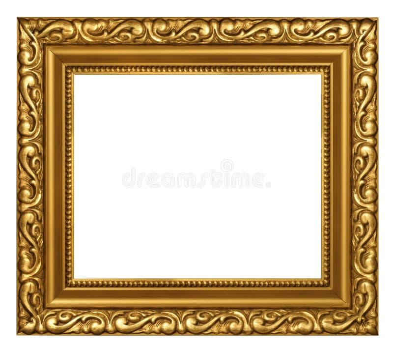 被镀的装饰的框架金子 库存照片