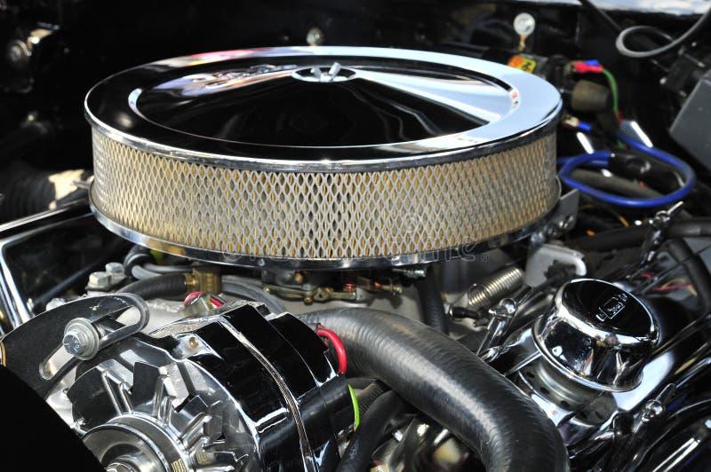 被镀铬的引擎 免版税图库摄影