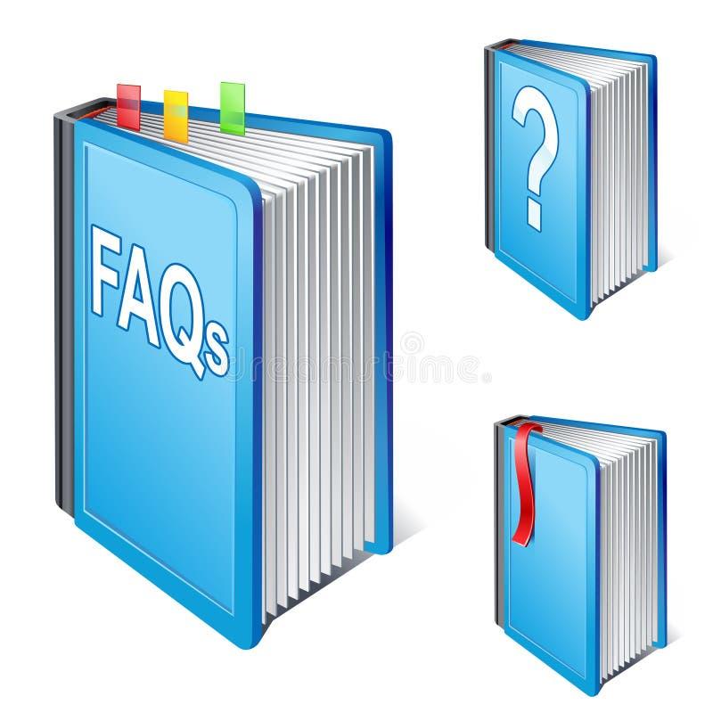 被问的书频繁地问题 库存例证