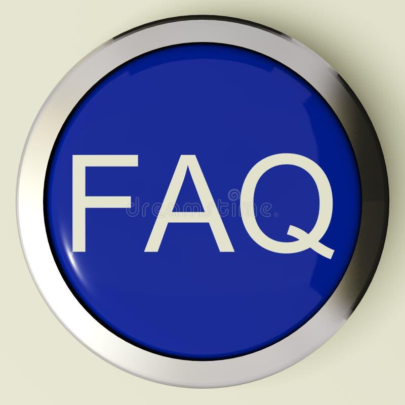 被问的按钮常见问题解答频繁地图标&# 向量例证