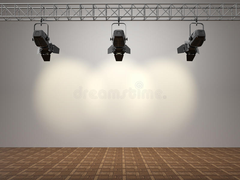 被阐明的空间聚光文本墙壁 向量例证