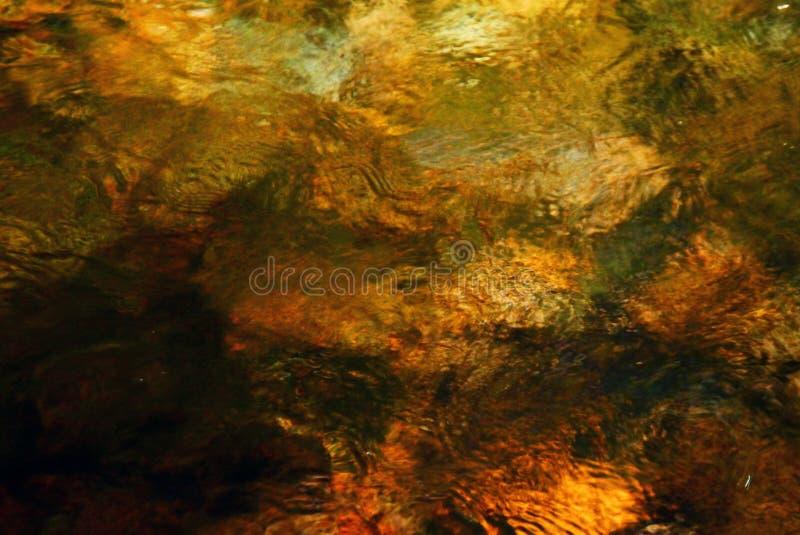 被阐明的水表面 免版税库存照片
