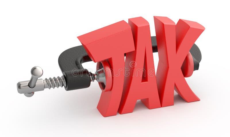 被阻碍的税字 库存例证