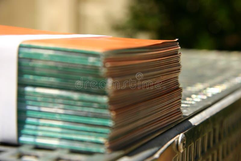 被限制的小叶打印机 免版税库存照片