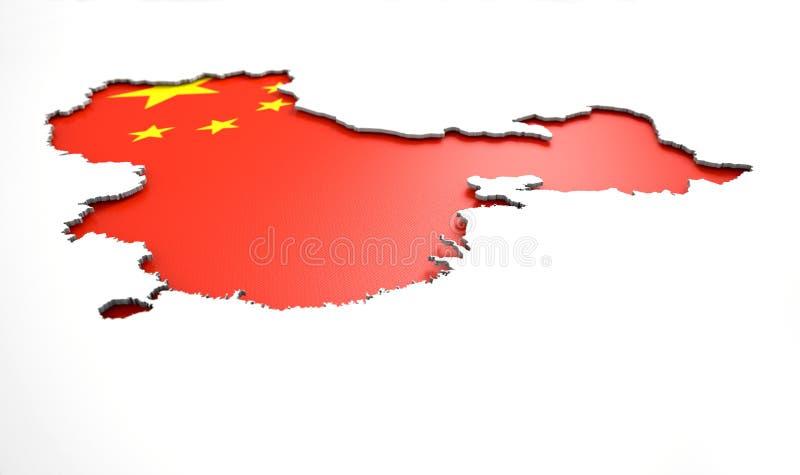 被隐藏的国家地图中国 库存例证