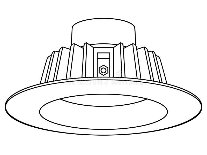 被隐藏的Downlight LED 库存例证