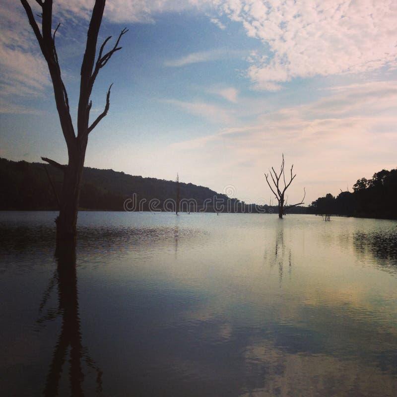 被隔离的湖 免版税库存图片