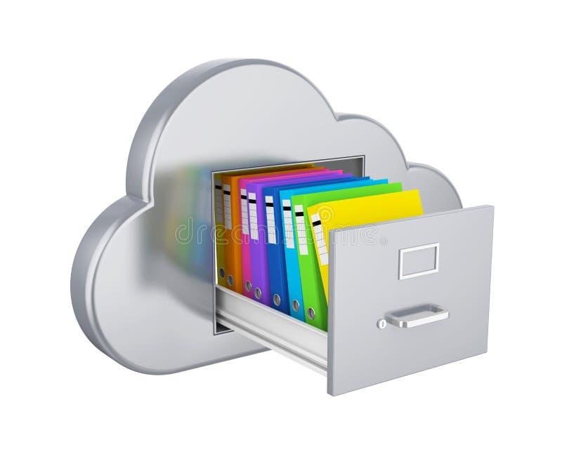 被隔绝的云彩计算的文件存储 向量例证