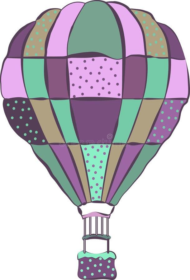 被隔绝的五颜六色的热空气baloon 向量例证