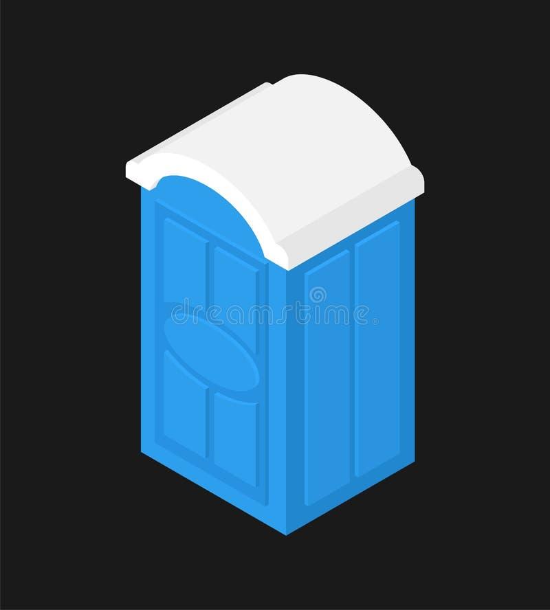 被隔绝的便携式的洗手间 WC街道palstic传染媒介例证 库存例证