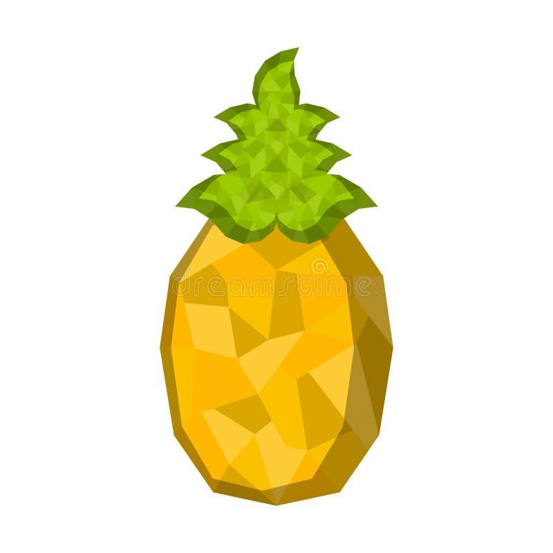 被隔绝的几何菠萝 低多 皇族释放例证