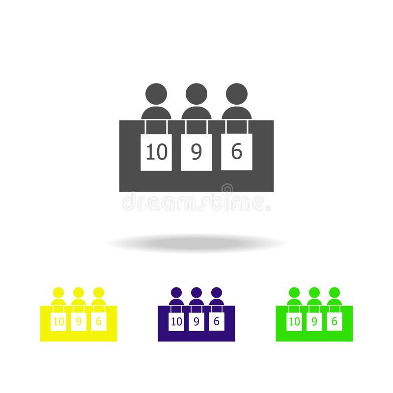 被隔绝的剪影陪审团象 冬季体育比赛学科 标志,标志可以为网,商标,流动应用程序,UI,UX使用 皇族释放例证