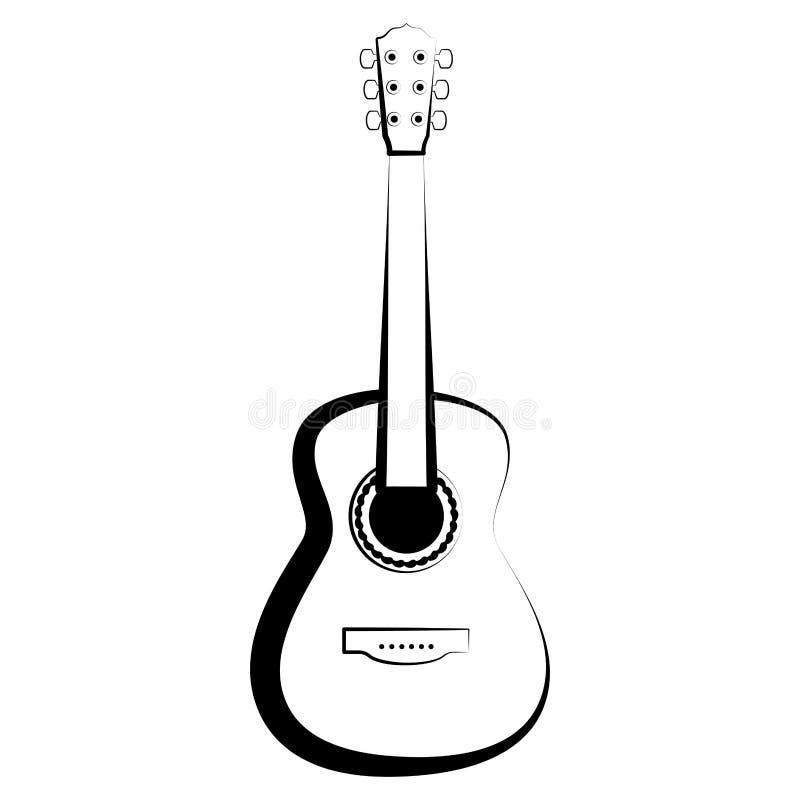 被隔绝的吉他概述 hornsection仪器音乐零件萨克斯管 向量例证