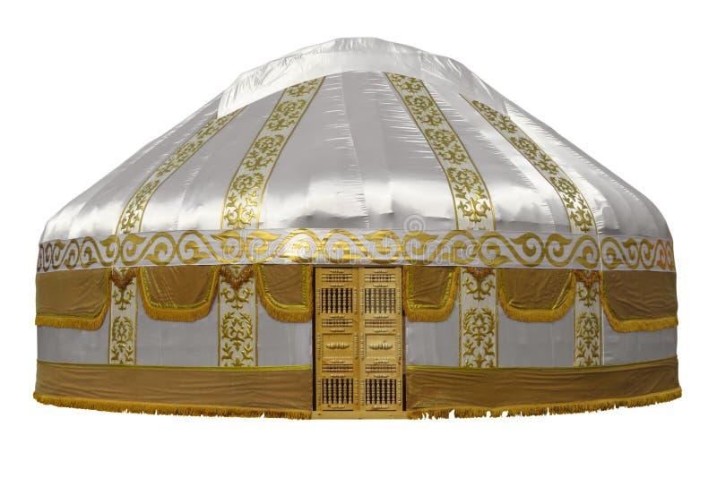 被隔绝的哈萨克人yurt 免版税库存照片