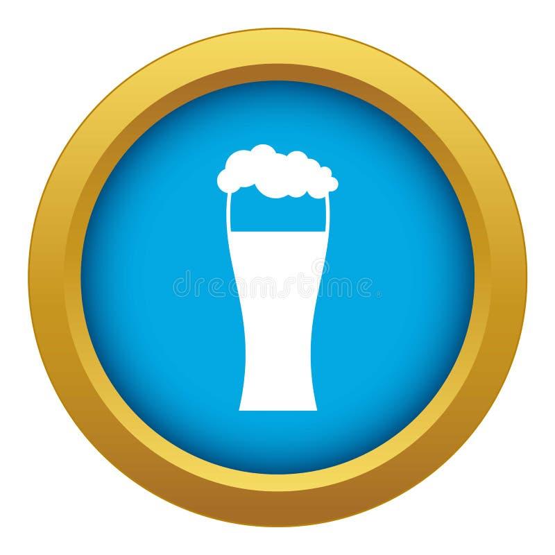 被隔绝的啤酒象蓝色传染媒介玻璃 向量例证