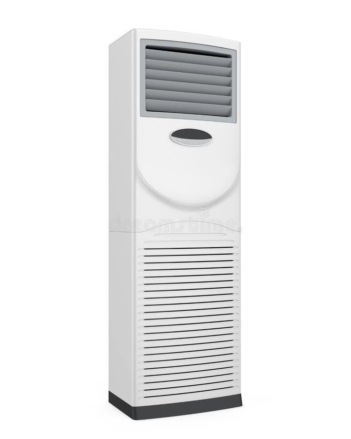 被隔绝的地板常设空调器 库存例证