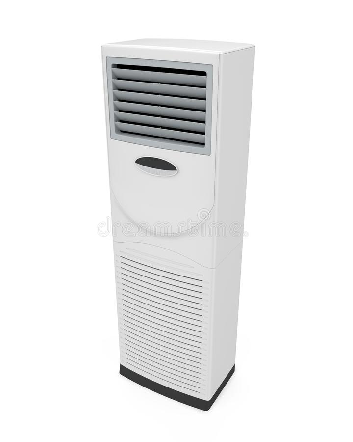 被隔绝的地板常设空调器 皇族释放例证