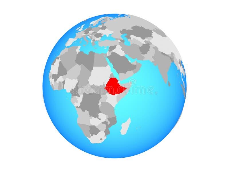 被隔绝的地球的埃塞俄比亚 向量例证
