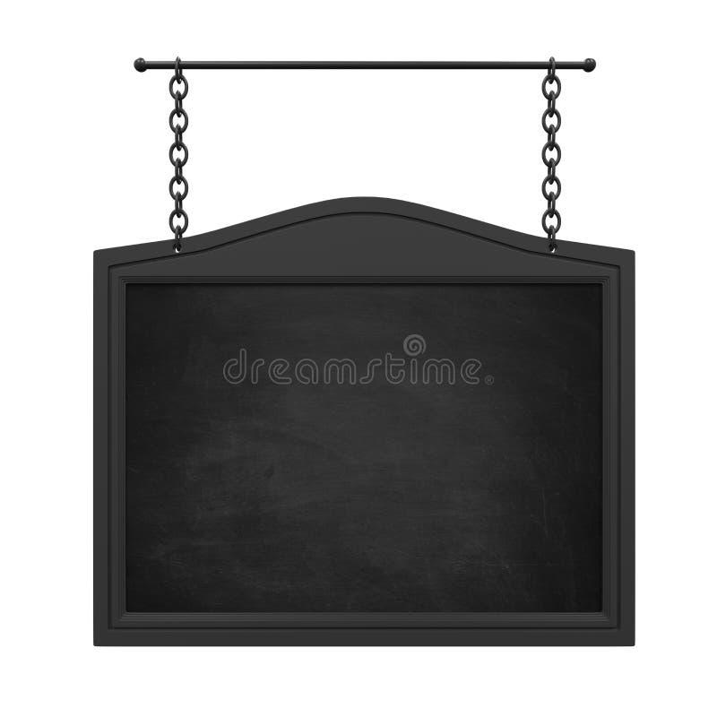 被隔绝的垂悬的黑板 库存例证