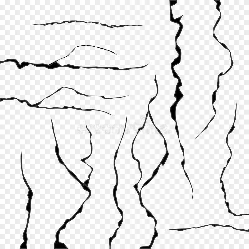 被隔绝的墙壁裂缝 墙壁镇压抽象纹理  向量例证