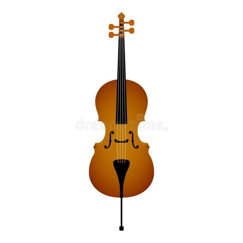 被隔绝的大提琴 hornsection仪器音乐零件萨克斯管 库存例证