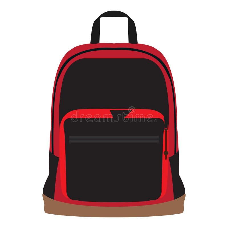被隔绝的学校bagpack 向量例证