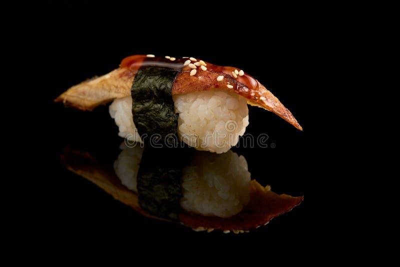 被隔绝的寿司特写镜头 免版税库存照片