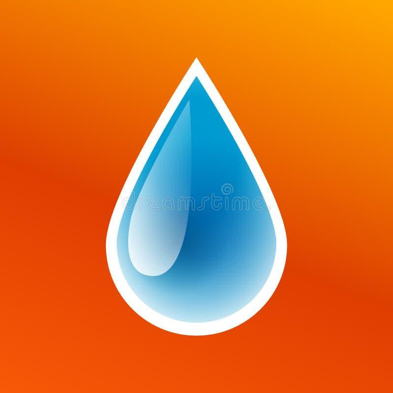 被隔绝的干净的纯净的水象,洗涤的贴纸,新水色小滴,传染媒介例证蓝色下落  库存例证