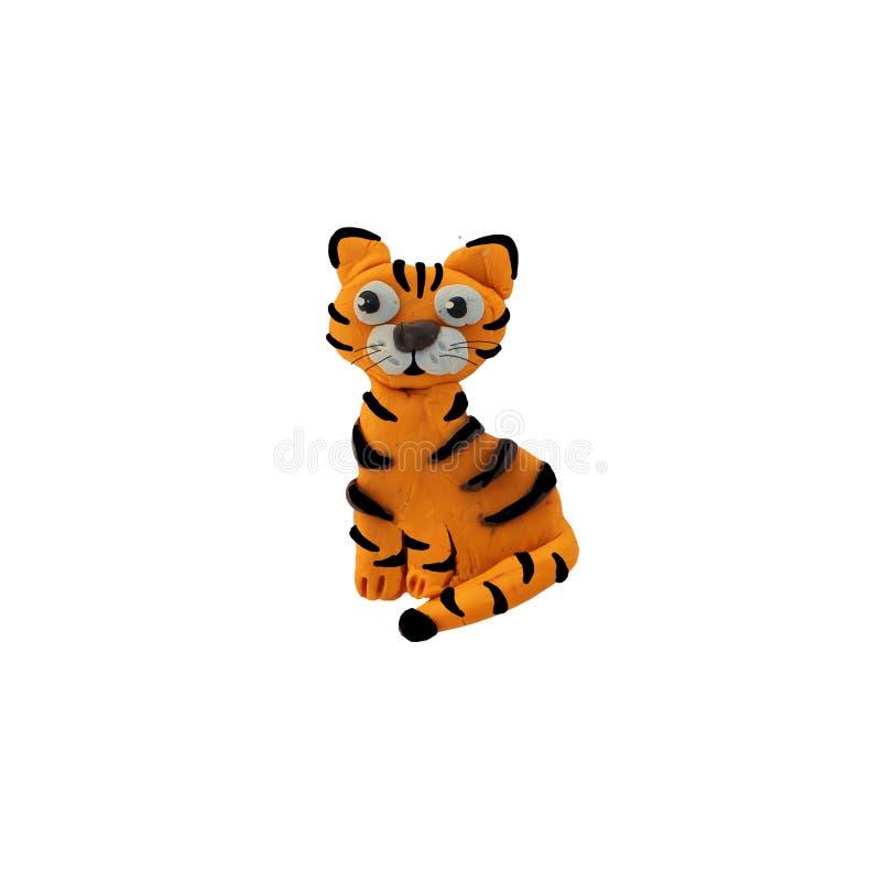 被隔绝的彩色塑泥3d小动物雕塑. 徽标, 空白.图片