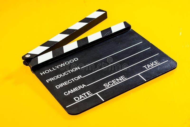 被隔绝的影片拍板 免版税库存照片