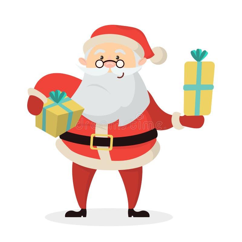 被隔绝的愉快的圣诞老人 库存例证