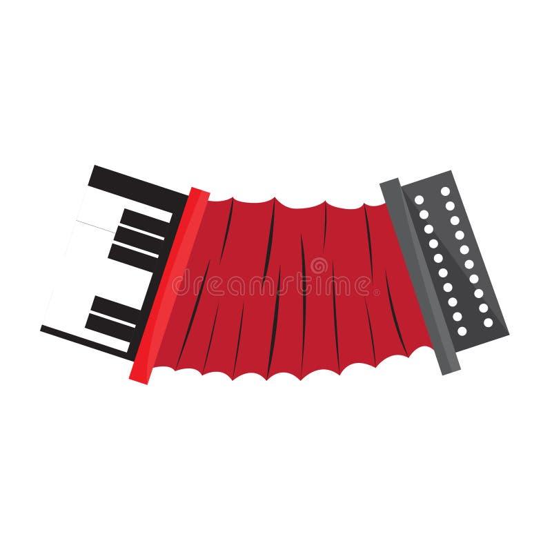 被隔绝的手风琴乐器 向量例证