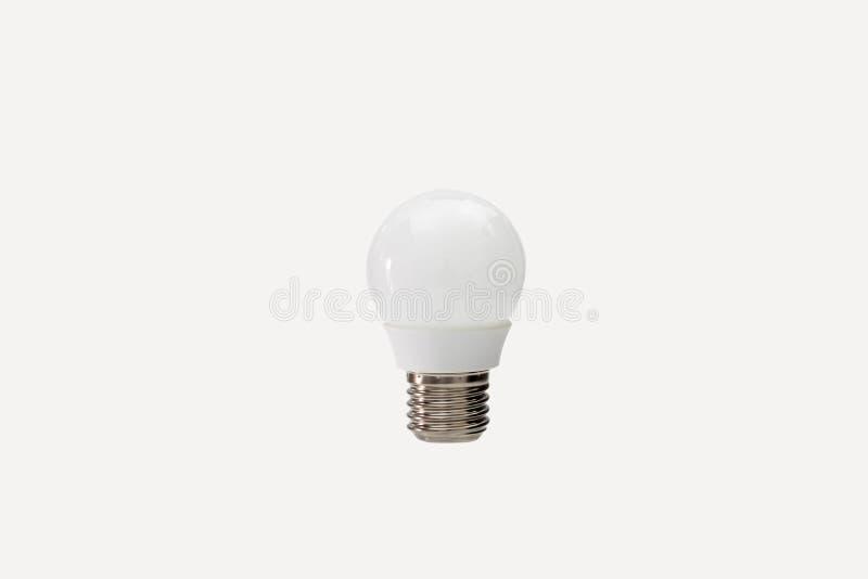 被隔绝的接近的白的电灯泡 库存照片