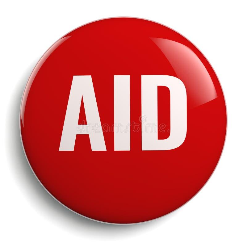 被隔绝的援助红色圆的标志 向量例证